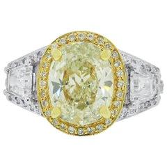3.31 Carat Diamond Engagement Ring