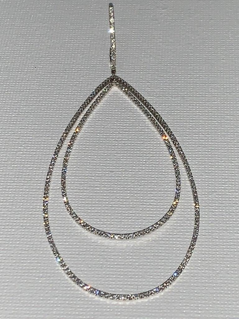 3.32 Carat Diamond Tear Drop Earrings In New Condition For Sale In Scottsdale, AZ