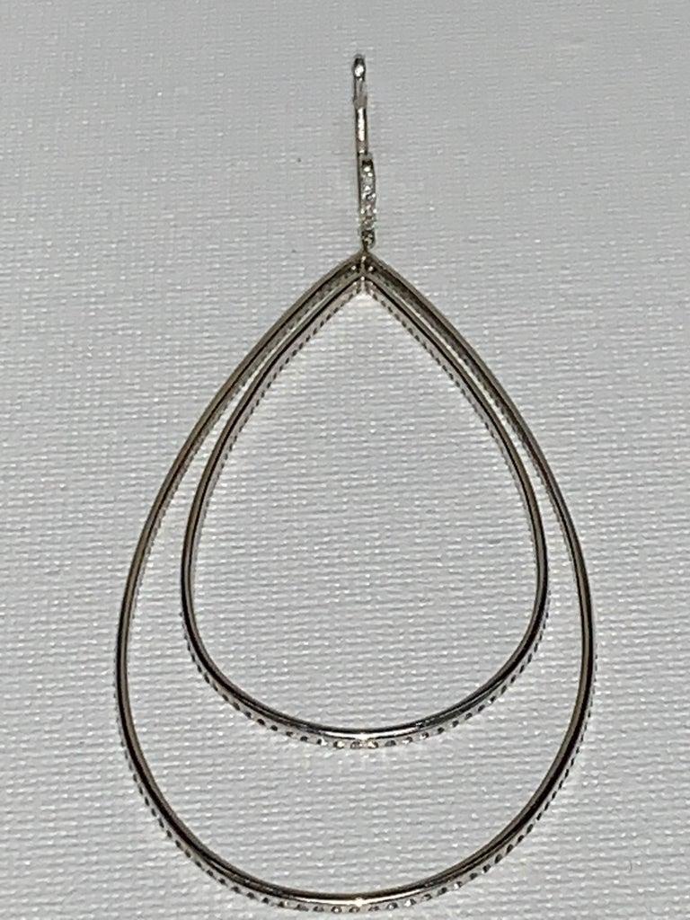 3.32 Carat Diamond Tear Drop Earrings For Sale 1
