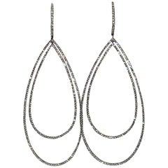 3.32 Carat Diamond Tear Drop Earrings