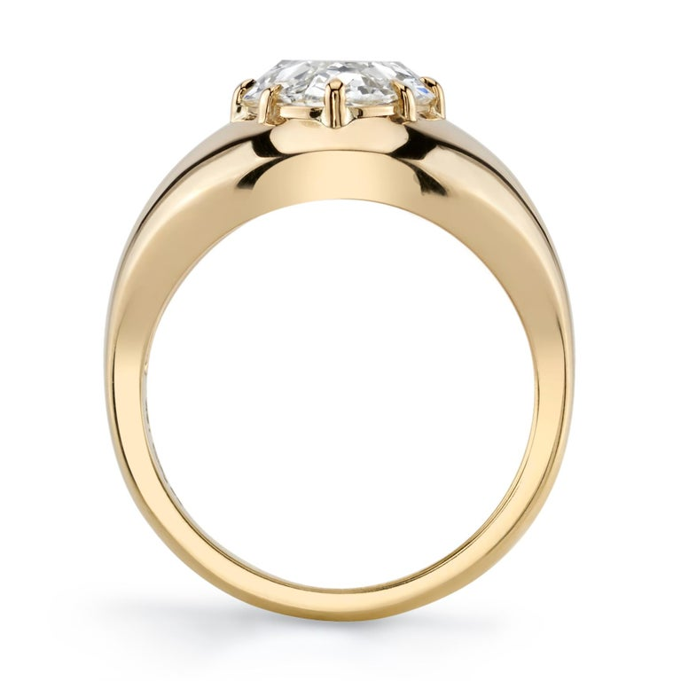 Pear Cut 3.32 Carat M/VS2 GIA Certified Pear Shaped Diamond Set in an 18 Karat Gold Ring