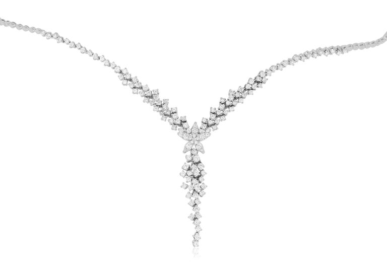 Material: 14K White Gold  Diamond Details: 168 Brilliant Round White Diamonds at 3.35 Carats SI Quality /  H-I Color  Fine one-of-a-kind craftsmanship meets incredible quality in this breathtaking piece of jewelry.  All Alberto items are made in the