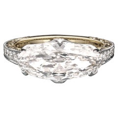 3.35 Carat H VS2 Old Mine Oval Diamond Solitaire Ring by Hancocks