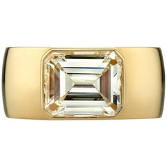 3.39 Carat Emerald Cut Diamond Ring