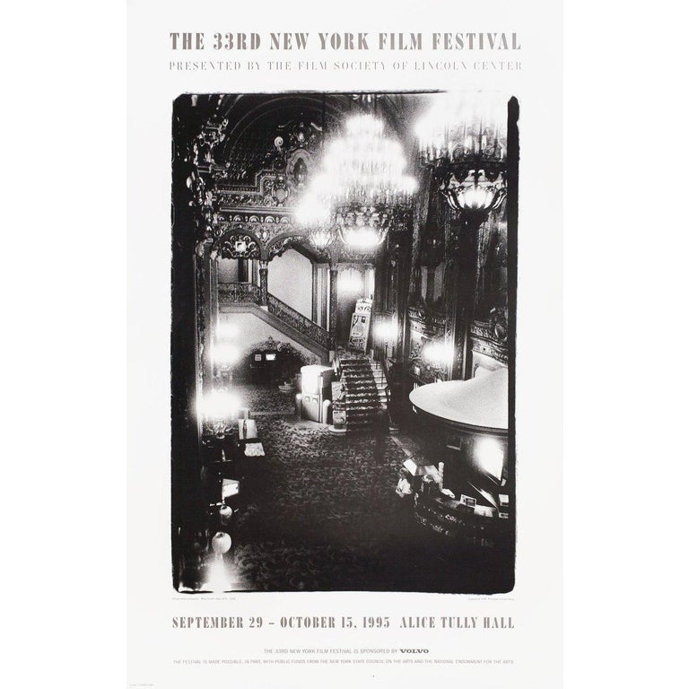 Original 1995 U.S. poster by Diane Arbus for the 1963 festival New York Film Festival. Very good-fine condition, rolled. Please note: the size is stated in inches and the actual size can vary by an inch or more.