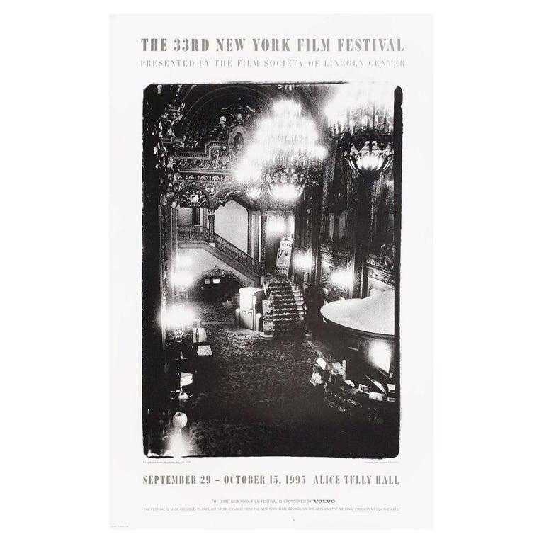 """""""33rd New York Film Festival"""" 1995 U.S. Poster"""