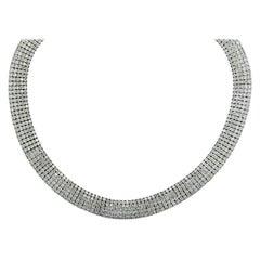 34 Carat Diamond Choker Necklace