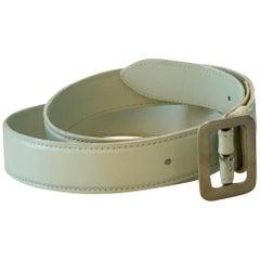 Dries Van Noten Belt in Mint Green Leather