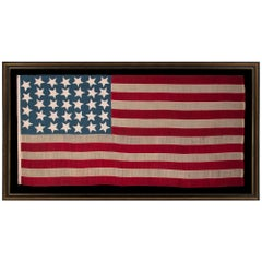 34 Star American Flag, Steel Blue Canton, Kansas Statehood