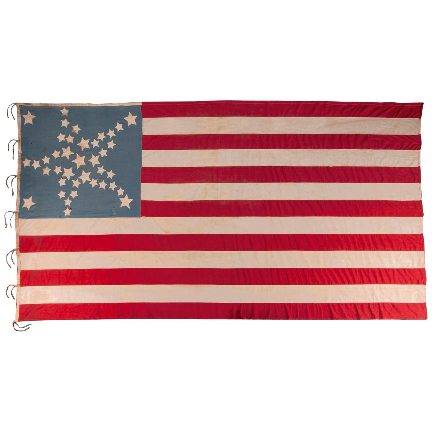 34 Star American flag, Updated to 39 Stars, with Stars in a Great Star Pattern