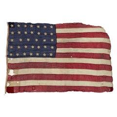 34-Star Civil-War Flag, Celebrating Kansas Statehood, 1861