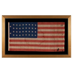 34 Star, Kansas Statehood, Parade Flag, Likely a Union Army Camp Colors