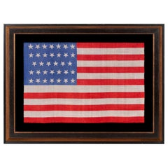 34 Star, Printed Silk, Civil War Period American Flag