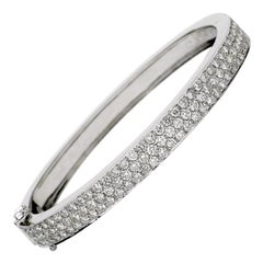 3.40 Carat Diamond Bangle Bracelet, 14 Karat Gold, Ben Dannie