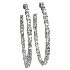 Diamond Hoops 3.40 Carat  in 14 Karat
