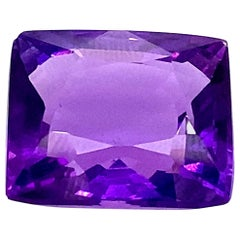 34.02 Carat Natural Cushion-Cut Burmese Amethyst