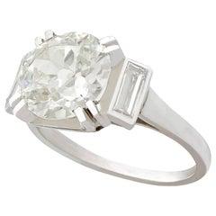 3.41 Carat Diamond Engagement Ring in Platinum