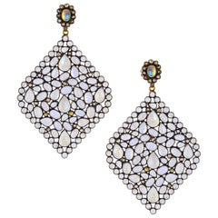 34.10 Carat Moonstone Statement Earrings