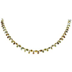 PANIM 34.20 Carat Fancy Golden Color Floral Diamond Necklace