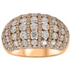 Roman Malakov 3.46 Carat Diamond Fashion Dome Ring