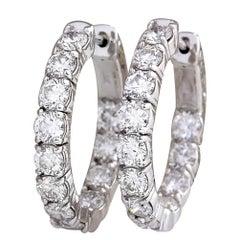 3.48 Carat Diamond 18 Karat White Gold Earrings