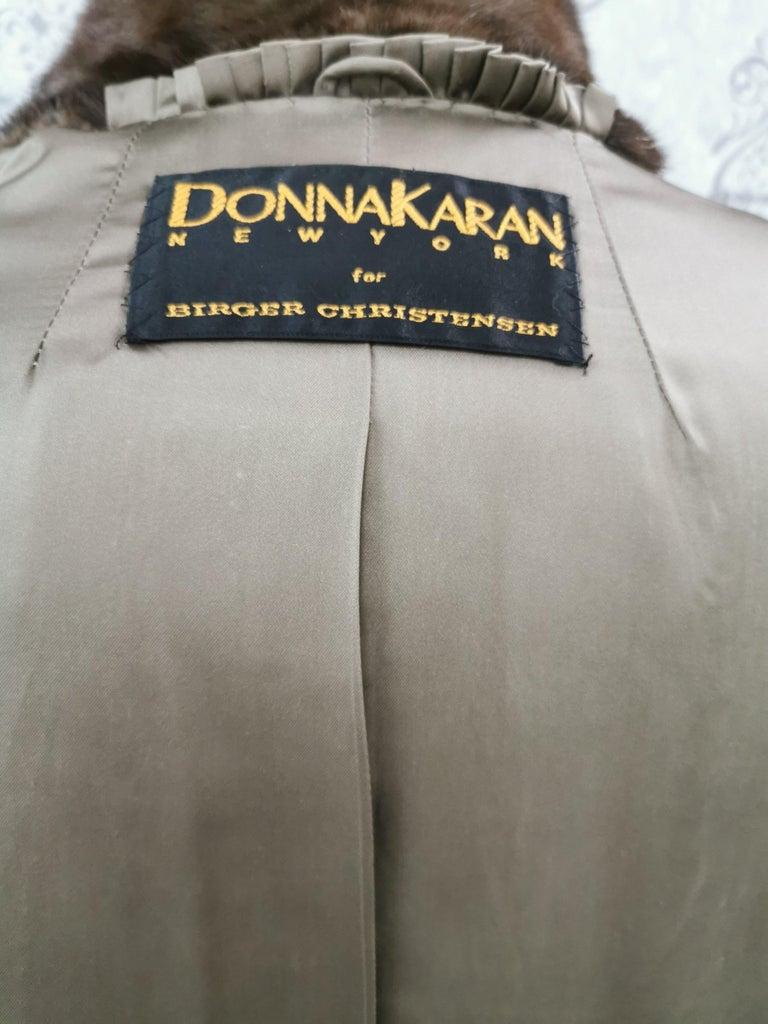 Donna Karan New York for Berger Christensen Demi-Buff Mink Fur Coat (Size 16-18) For Sale 5