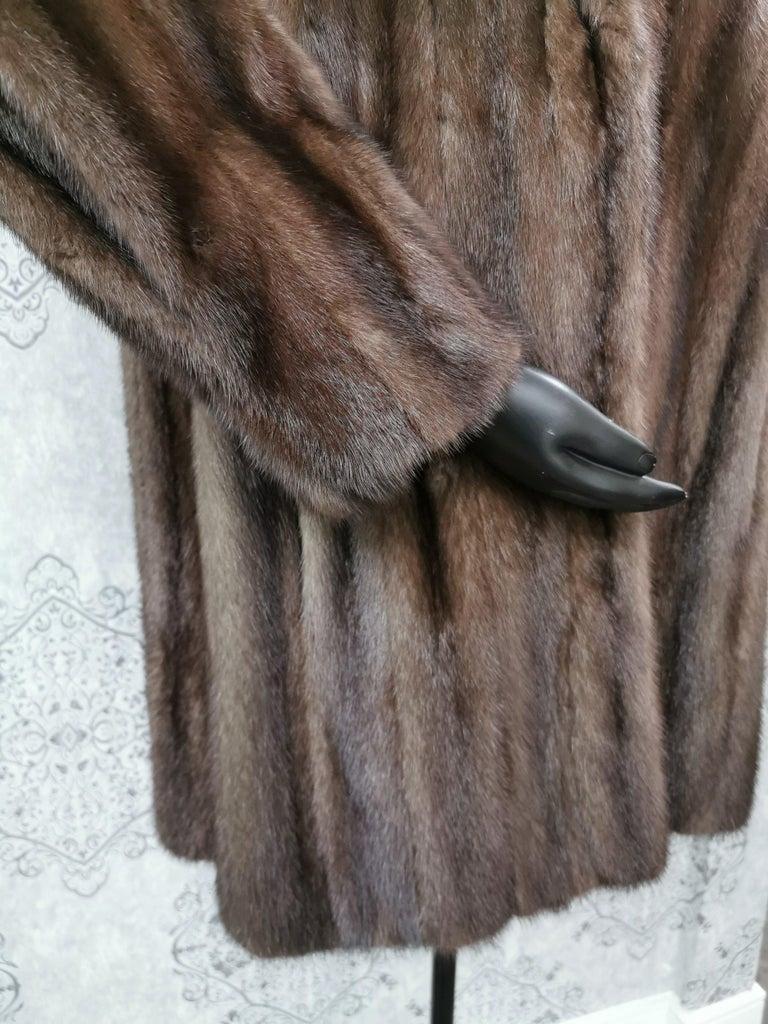 Donna Karan New York for Berger Christensen Demi-Buff Mink Fur Coat (Size 16-18) For Sale 2