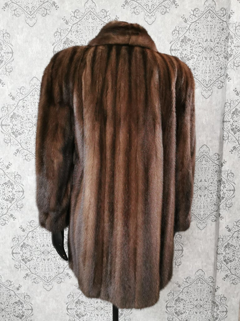 Donna Karan New York for Berger Christensen Demi-Buff Mink Fur Coat (Size 16-18) For Sale 3