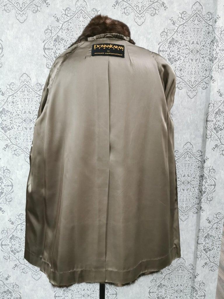 Donna Karan New York for Berger Christensen Demi-Buff Mink Fur Coat (Size 16-18) For Sale 4