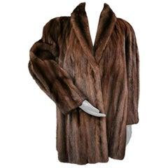 Donna Karan New York for Berger Christensen Demi-Buff Mink Fur Coat (Size 16-18)