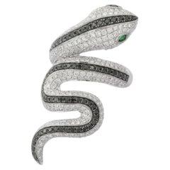 3.5 Carat Diamond 18 Karat Gold Snake Ring