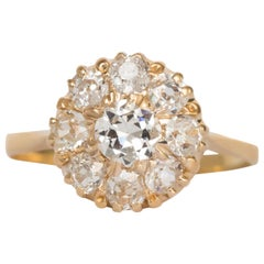 .35 Carat Diamond Yellow Gold Engagement Ring