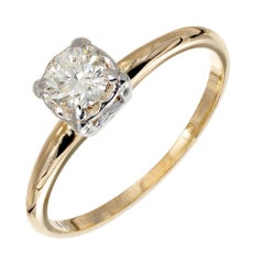 .35 Carat Diamond Yellow White Gold Engagement Ring