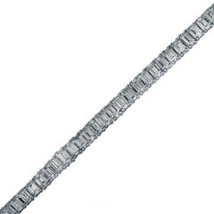 35 Carat Emerald Cut Diamond Bracelet