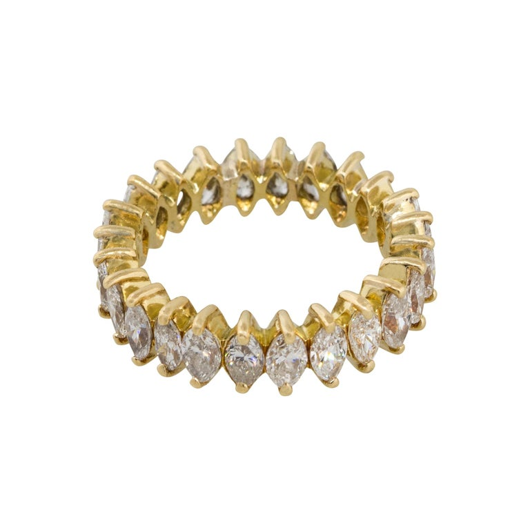Marquise Cut 3.50 Carat Diamond Eternity Band For Sale