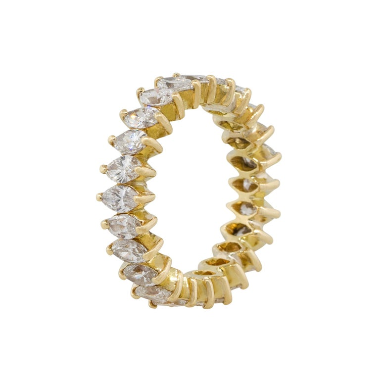 3.50 Carat Diamond Eternity Band In Excellent Condition For Sale In Boca Raton, FL