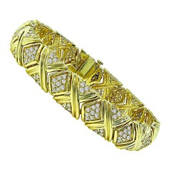 3.50 Carat Diamond Gold Bracelet
