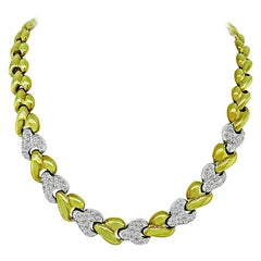 3.50 Carat Diamond Two-Tone Gold Necklace