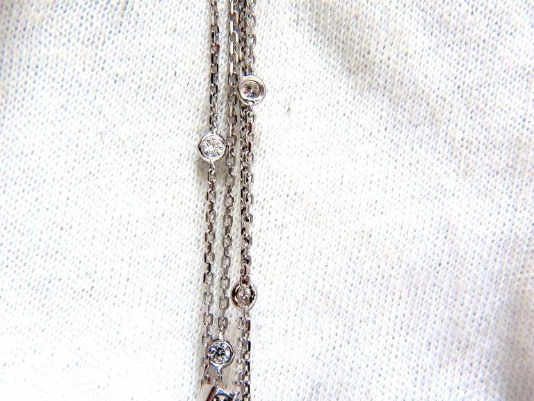 3 50 Carat Diamonds Dangling Chandelier Pendant Station