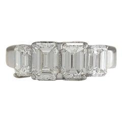 3.50 Carat Diamond 18 Karat White Gold Ring