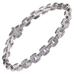 3.50 Carat Pave Diamond 18 Karat Gold Chain Link Bracelet Beverley K Collection