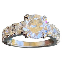 3.50 Carat Round Lab Sustainable Diamond Engagement Ring, Gold, Ben Dannie