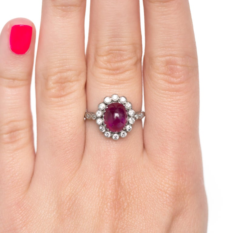 Ruby Engagement Rings For Sale: 3.50 Carat Ruby Platinum Engagement Ring For Sale At 1stdibs