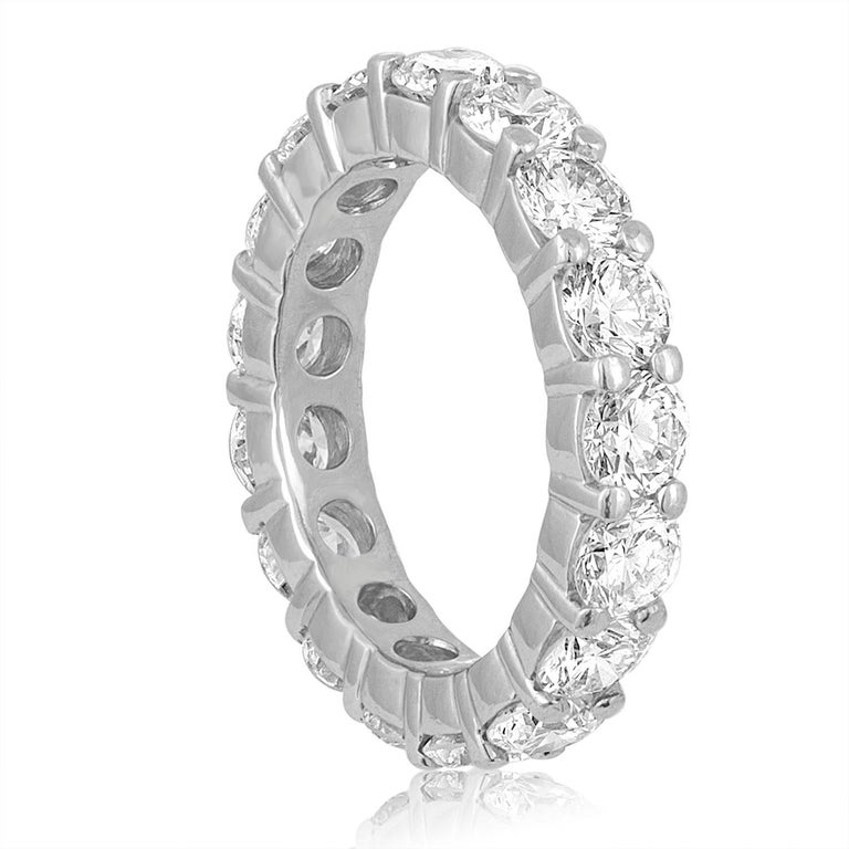 Beautiful Eternity Ring The ring is Platinum There are 3.50 Carats In Diamonds F VS The diamonds are round brilliant The ring weighs 6.0 grams The ring is a size 5, not sizable.