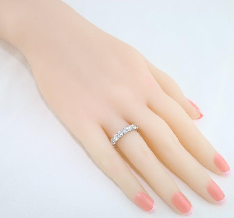 Contemporary 3.50 Carat Diamond Platinum Eternity Band Ring For Sale