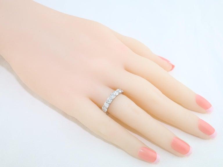 Women's 3.50 Carat Diamond Platinum Eternity Band Ring For Sale