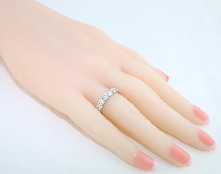 3.50 Carat Diamond Platinum Eternity Band Ring For Sale 1