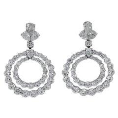 35.00 Carat Double Hoop Diamond Earrings