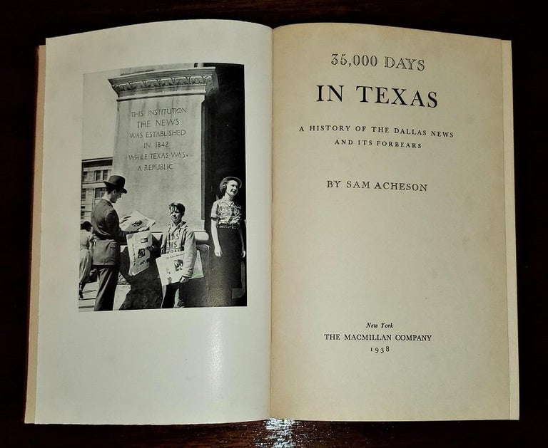 American 35000 Days in Texas by Acheson 1st Edition For Sale