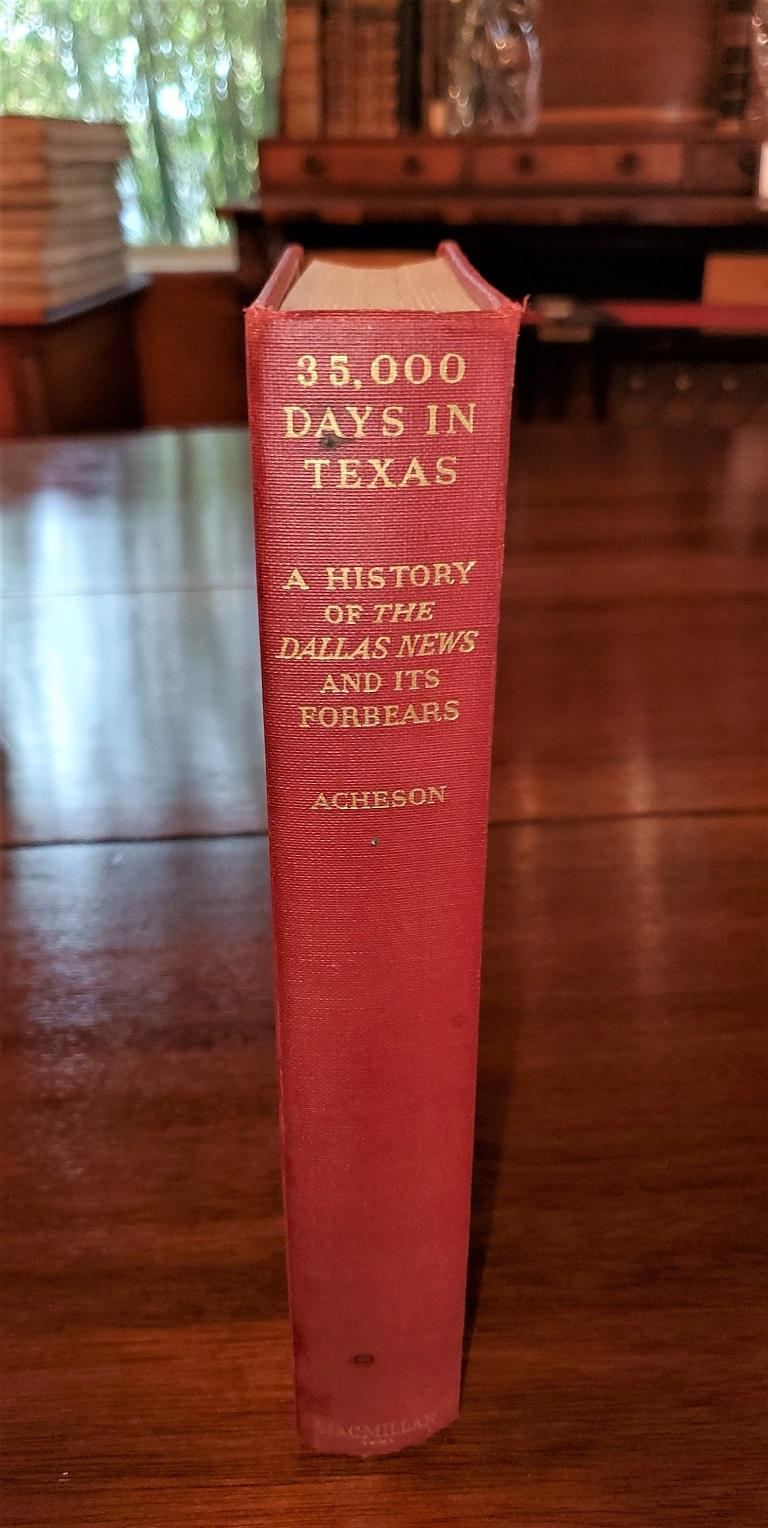 Paper 35000 Days in Texas by Acheson 1st Edition For Sale